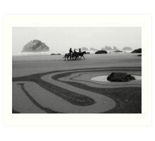 The horse ride  Art Print