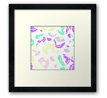 Abstract geometric seamless grunge pattern, modern print Framed Print