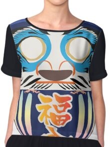 Japanese Art Chiffon Top