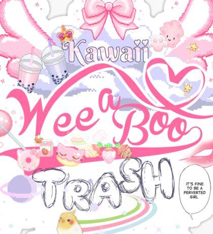 Kawaii Weeaboo Trash Sticker