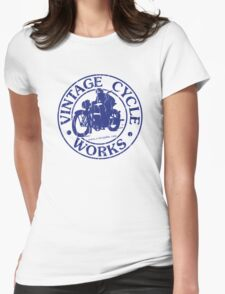 Vintage Cycle Works Womens Fitted T-Shirt