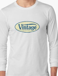 Vintage Cycle Works - oval badge Long Sleeve T-Shirt