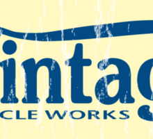 Vintage Cycle Works - oval badge Sticker