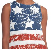 Grunged USA Proud Contrast Tank