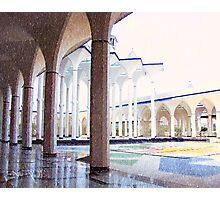 The Shah Alam Mosque Hallway Photographic Print