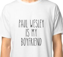 Paul Wesley is my boyfriend Classic T-Shirt