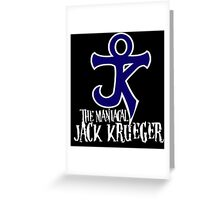 The Maniacal Jack Krueger Logo Greeting Card