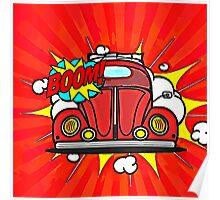 Boom Beetle Cartoon Poster