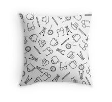 Mugs n' Spectacles Throw Pillow