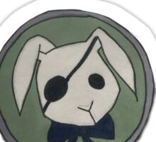 ciel phantomhive bitter bunny Sticker