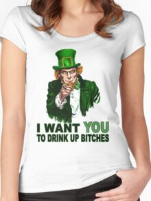 Drink Up  Women's Fitted Scoop T-Shirt