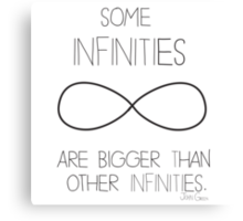 Some Infinities Are Bigger Than Other Infinites Canvas Print