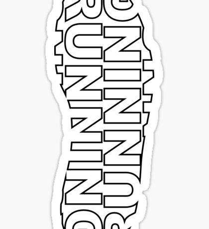 Running Shoe Print Sticker