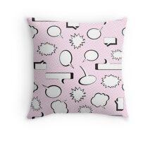 Comic Book Pow Pink Throw Pillow