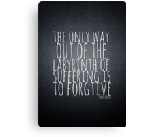 John Green Typography Quote Labyrinth Canvas Print
