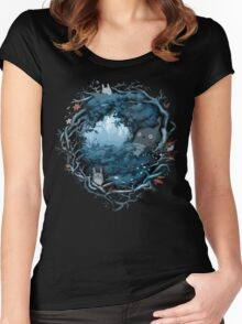 Forest Spirits Women's Fitted Scoop T-Shirt