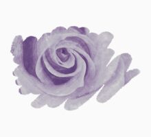Water Colored Memory ~ Purple Rose One Piece - Short Sleeve