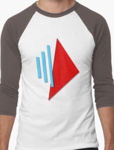 3D BLAST LOGO Men's Baseball ¾ T-Shirt