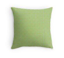 Comic Book Halftone Green Throw Pillow
