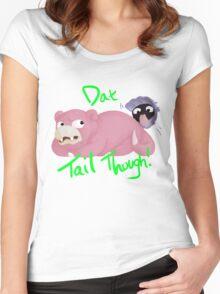 Slowpoke Dat Tail Women's Fitted Scoop T-Shirt