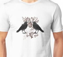 Ravens Vying for a Heart Unisex T-Shirt
