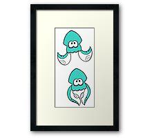 Teal Inkling Framed Print