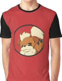 PokeMon - Growlithe Graphic T-Shirt
