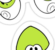 Lime Squid Sticker
