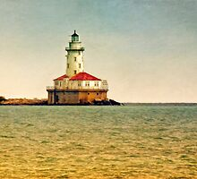 Chicago Harbor Lighthouse by Claude LeTien