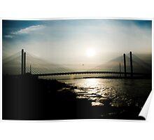 Bridge in Silhouette Poster