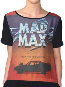 The Last of the V8's - Vintage Custom Mad Max Poster  Chiffon Top