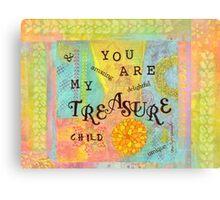 You are My Treasure--Affirmations From Abba  Canvas Print