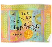 You are My Treasure--Affirmations From Abba  Poster