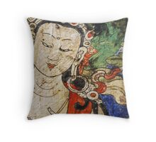 Antique Asian Throw Pillow  Throw Pillow