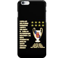 Real Madrid 2000 Champions League Winners iPhone Case/Skin
