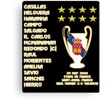 Real Madrid 2000 Champions League Winners Canvas Print