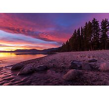 Dusk at Incline Beach Photographic Print