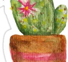 Watercolor cactus Sticker