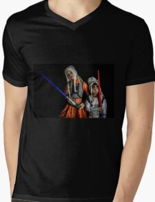 Move Over Rey Mens V-Neck T-Shirt