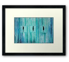 Feather Trio Framed Print