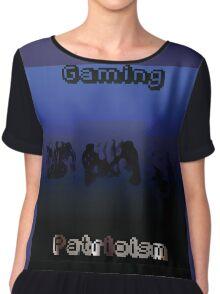 Gaming Patriotism  Chiffon Top