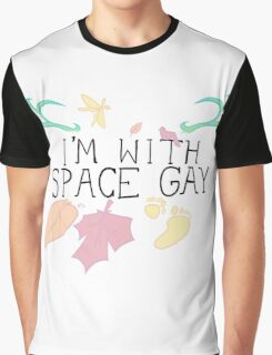 I'm With Space Gay Graphic T-Shirt