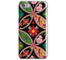 Patchwork seamless floral pattern texture background with decorative elements iPhone Case/Skin