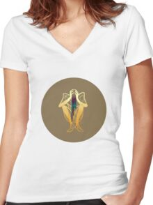 Drip 3 Women's Fitted V-Neck T-Shirt