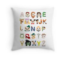 Oz-abet (an Oz Alphabet) Throw Pillow