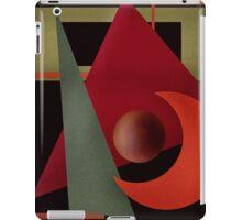 Beautiful modern geometrical ornamental red green black pattern texture iPad Case/Skin