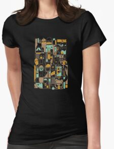 Retro People Womens Fitted T-Shirt