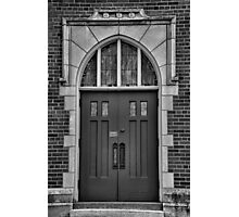Pine Street Church Entrance BW Photographic Print