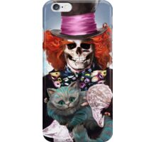 Mad Hatter with Cat iPhone Case/Skin