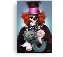 Mad Hatter with Cat Canvas Print
